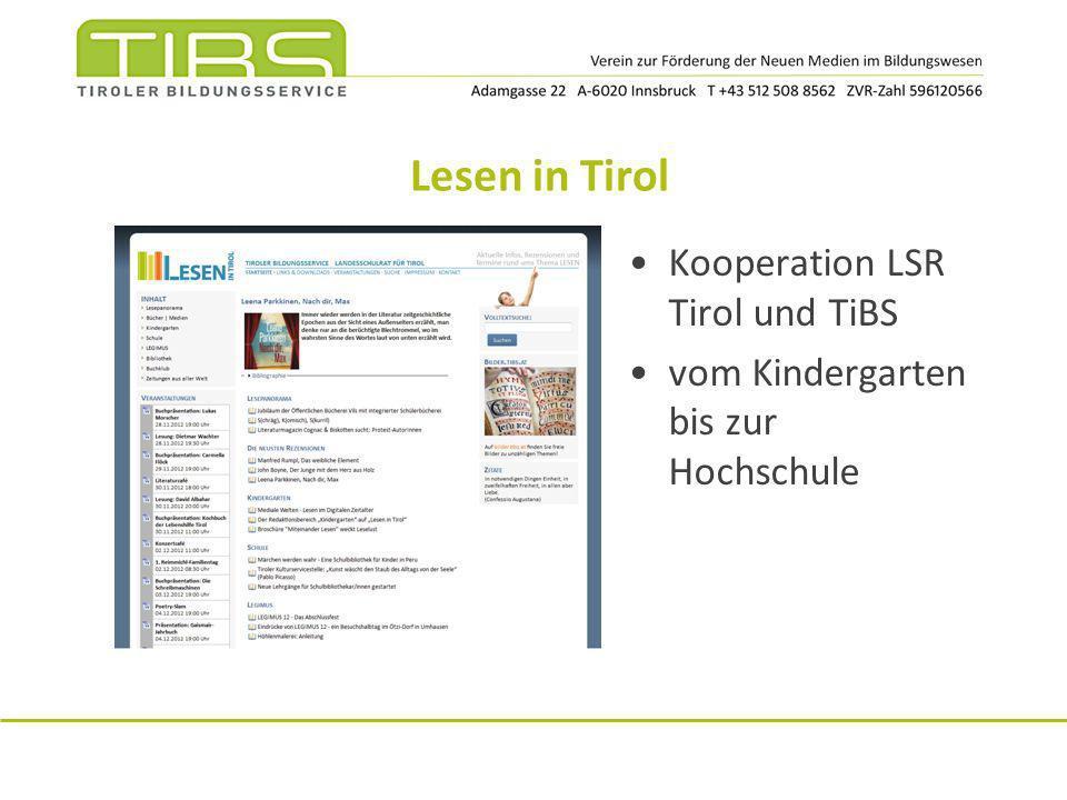 Themen zu LLL Bildungs- und Berufsberatung Netzwerk Tirol www.bildungsberatung-tirol.at Bildungsdatenbank Tiroler Bildungskatalog www.tiroler-bildungskatalog.at