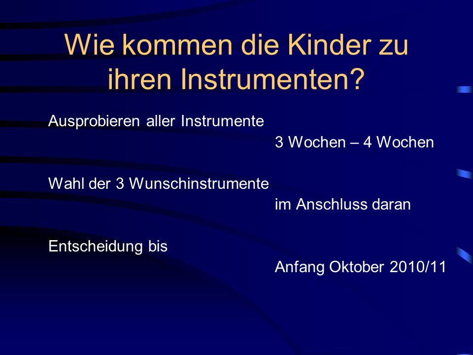 Welche Instrumente gibt es.