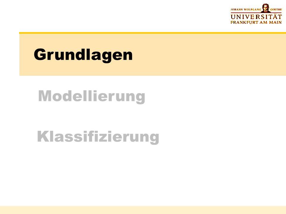 Klassifizierung Grundlagen Modellierung