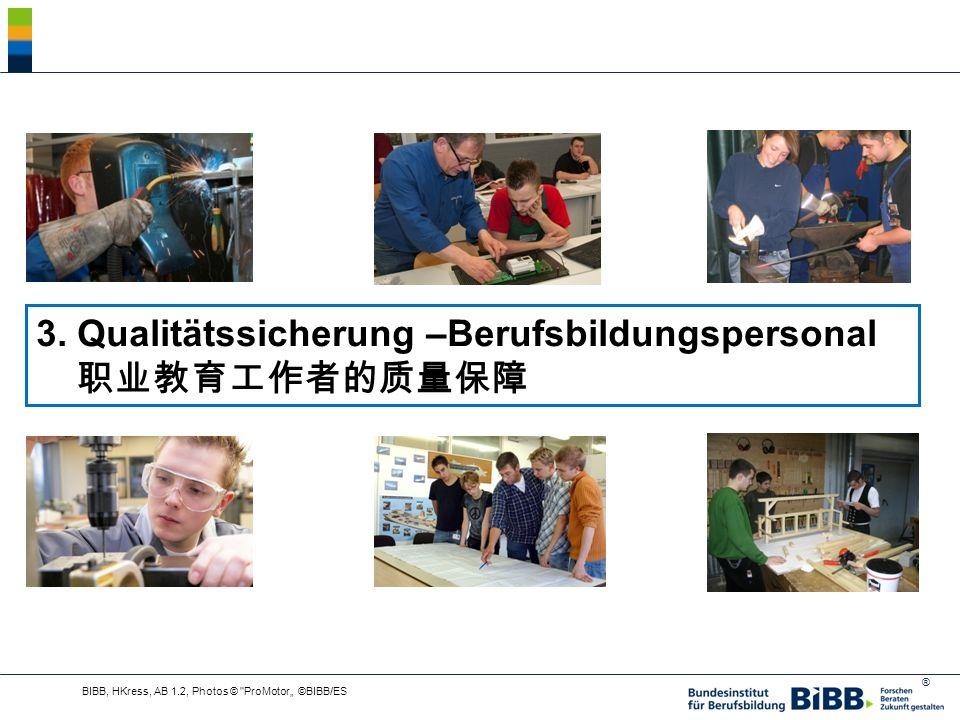 ® 3. Qualitätssicherung –Berufsbildungspersonal BIBB, HKress, AB 1.2, Photos © ProMotor ©BIBB/ES