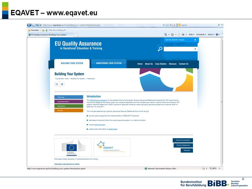 ® EQAVET – www.eqavet.eu