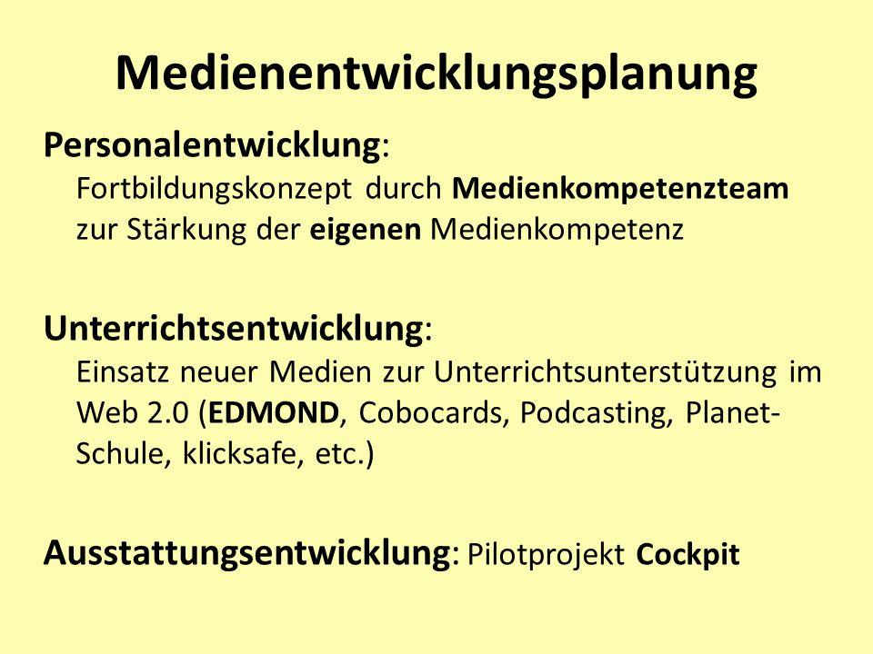 Phasen der Erstellung des Medienkonzeptes Phase 1: - Arbeitsgruppe - pädagogisches Konzept Phase 2: Bestandsaufnahme, techn.