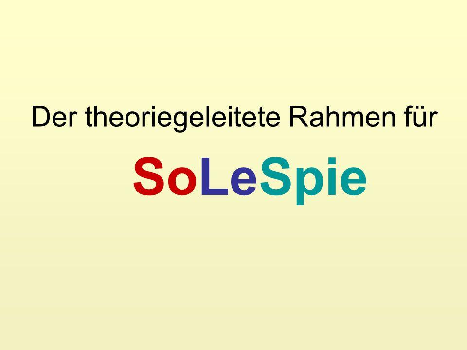 Der theoriegeleitete Rahmen für SoLeSpie