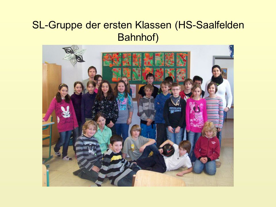 SL-Gruppe der ersten Klassen (HS-Saalfelden Bahnhof)