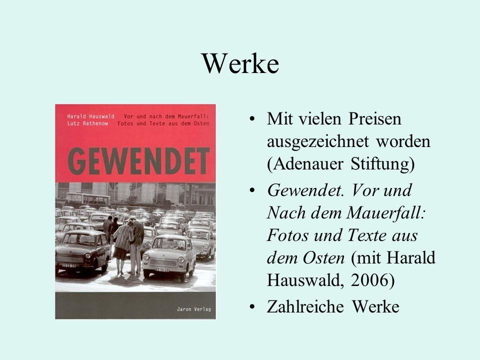 Werke Mit vielen Preisen ausgezeichnet worden (Adenauer Stiftung) Gewendet.