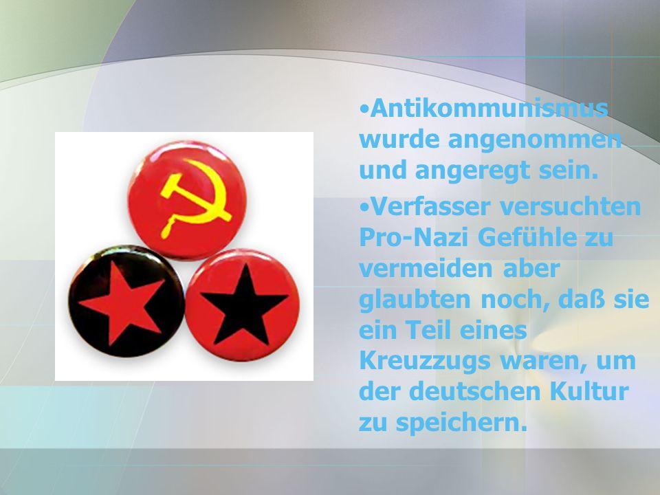 Antikommunismus wurde angenommen und angeregt sein.