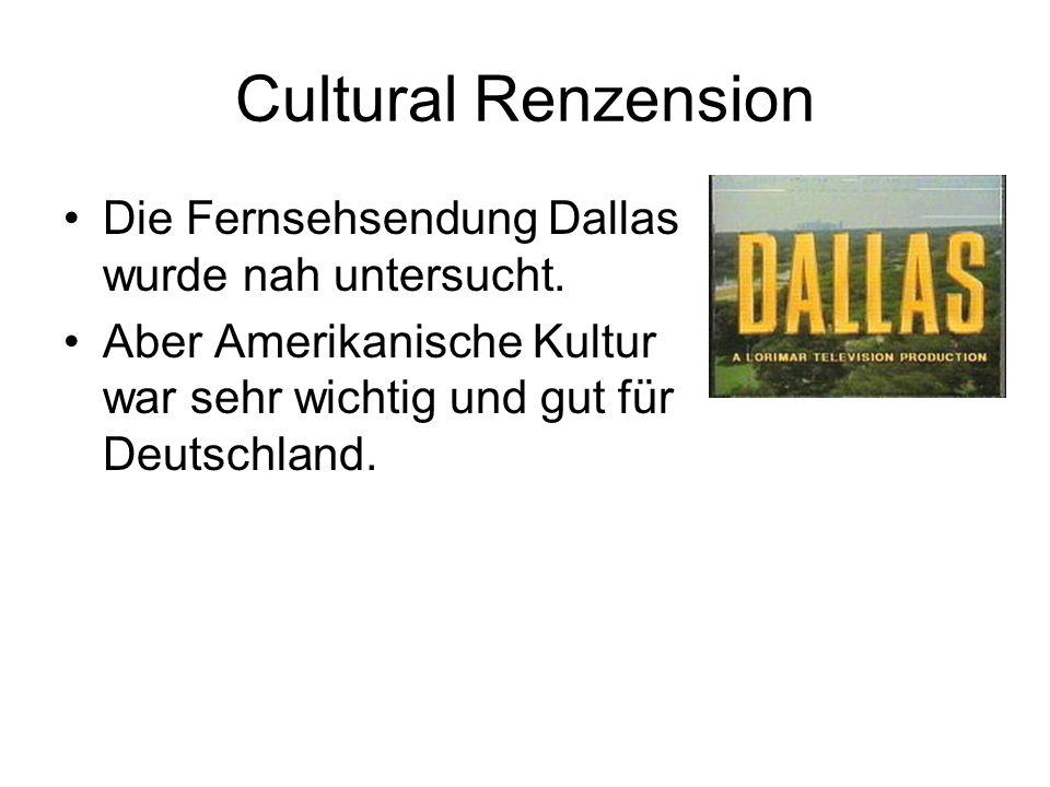Cultural Renzension Die Fernsehsendung Dallas wurde nah untersucht.