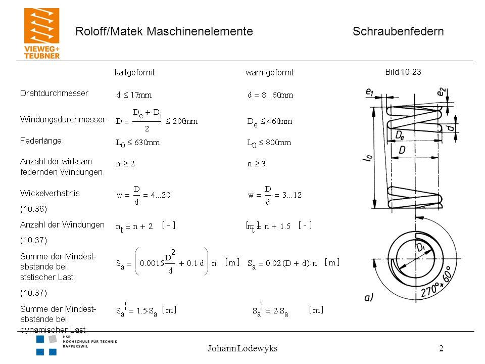 Schraubenfedern Roloff/Matek Maschinenelemente Johann Lodewyks2 Bild 10-23