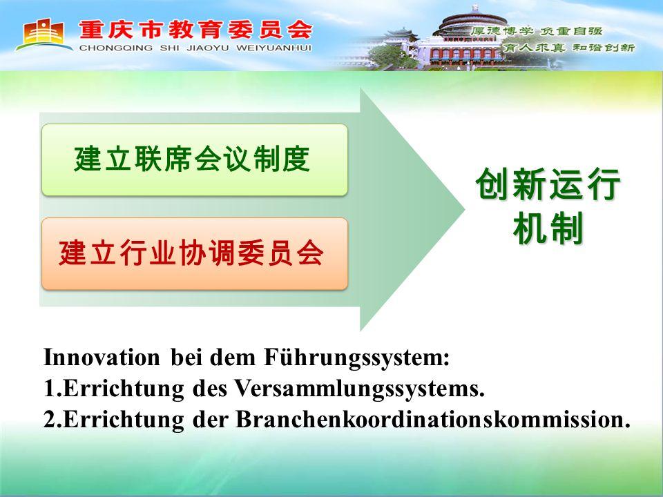 Innovation bei dem Führungssystem: 1.Errichtung des Versammlungssystems.
