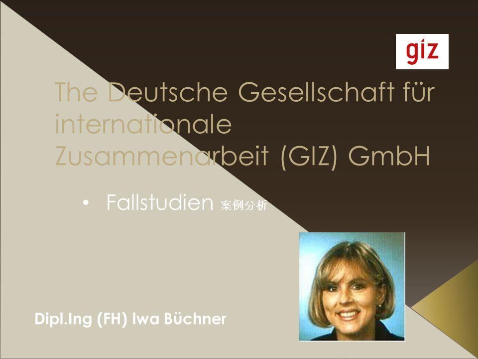 Dipl.Ing (FH) lwa Büchner The Deutsche Gesellschaft für internationale Zusammenarbeit (GIZ) GmbH Fallstudien