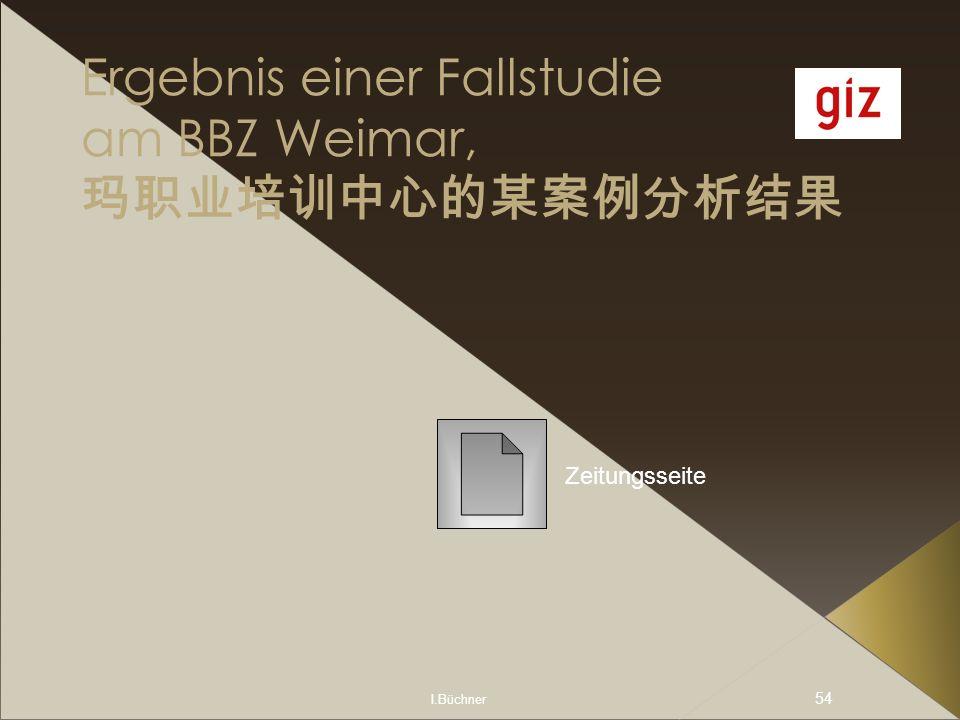 I.Büchner 54 Ergebnis einer Fallstudie am BBZ Weimar, Zeitungsseite