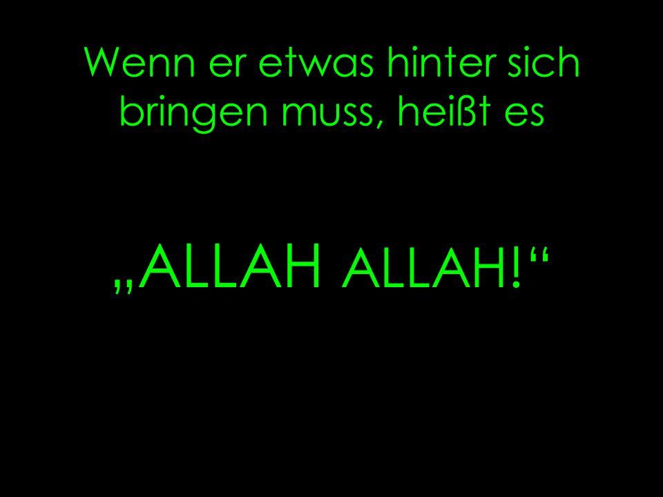 Wenn er traurig ist, tröstet ihn ALLAH !