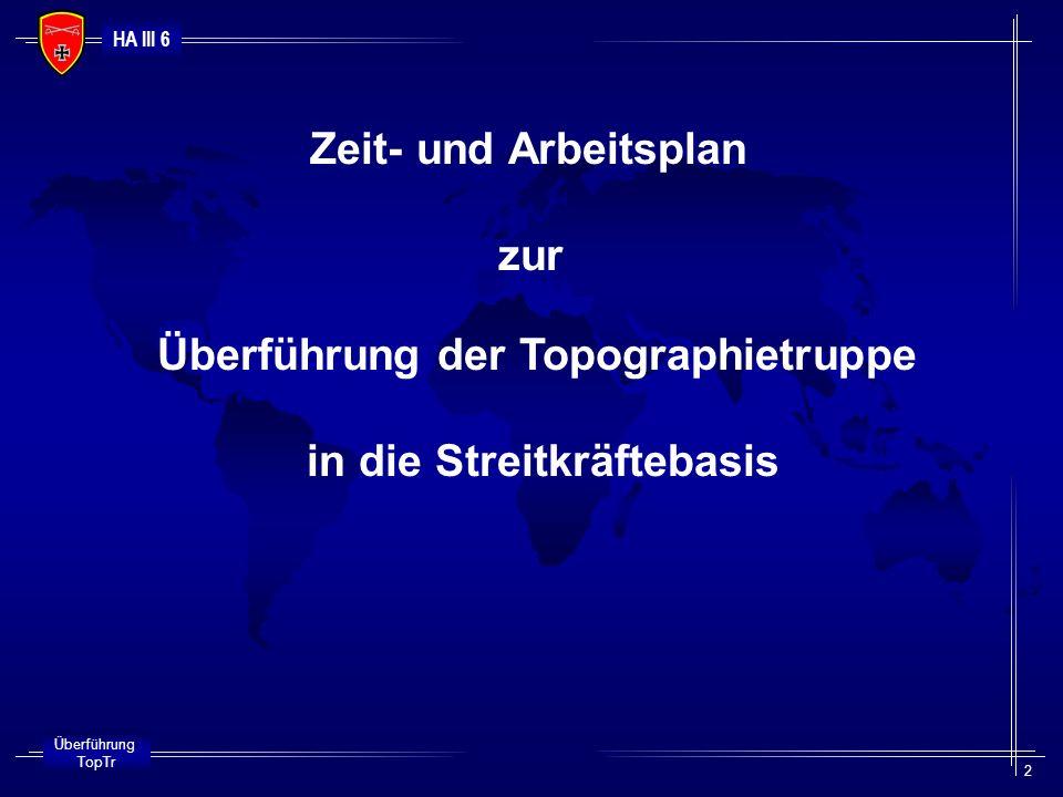 HA III 6 Überführung TopTr 3 Beenden Wehrpflicht 2001 2003 2002 2004 30.08.