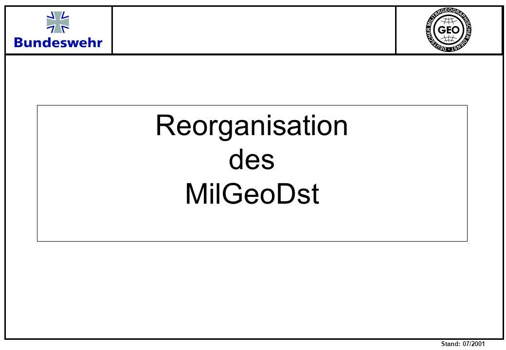 Stand: 07/2001 Entwicklung der Aufgabe Kapazität Zeit Ohne Anpassung