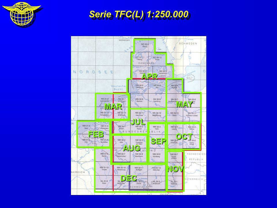 Serie TFC(L) 1:250.000 DEC FEB MAR APR MAY JUL AUG SEP OCT NOV