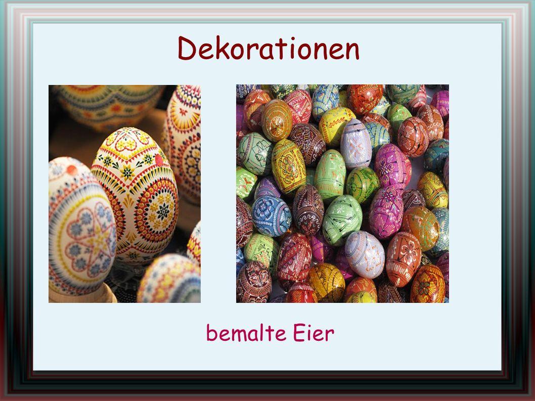 bemalte Eier Dekorationen