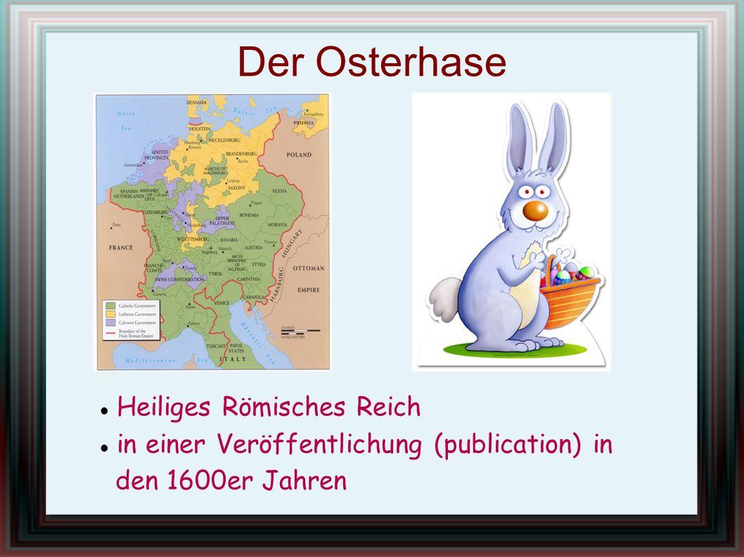 Der Osterhase Heiliges Römisches Reich in einer Veröffentlichung (publication) in den 1600er Jahren