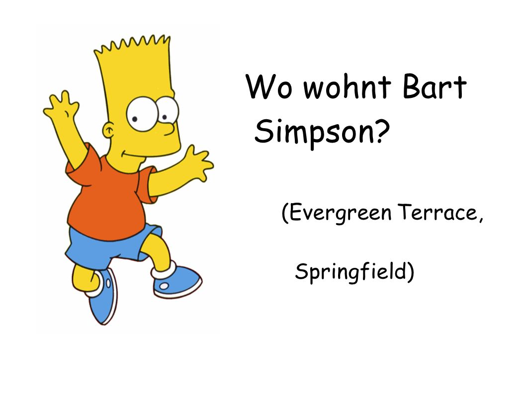 Wo wohnt Bart Simpson? (Evergreen Terrace, Springfield)
