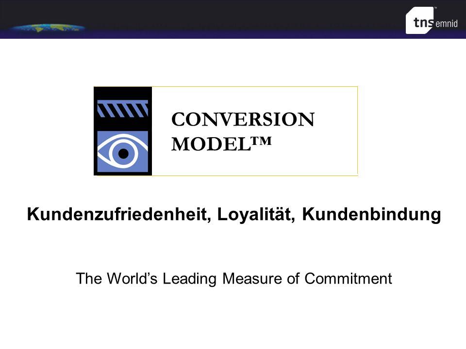 CONVERSION MODEL The Worlds Leading Measure of Commitment Kundenzufriedenheit, Loyalität, Kundenbindung