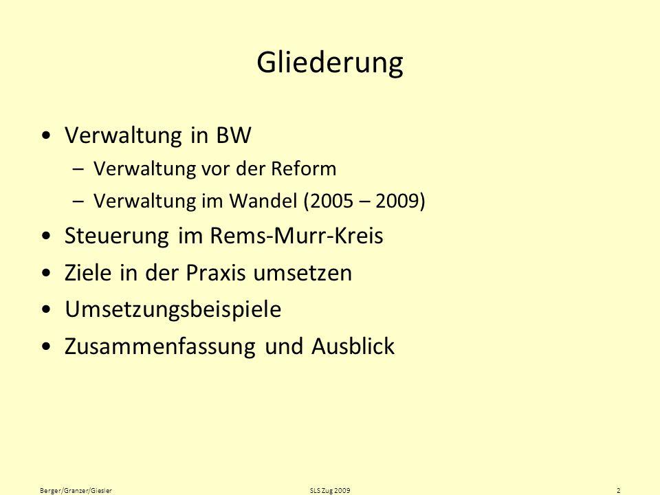 Aufbau der Verwaltung in BW vor der Reform Quelle: Riedling, J.: Verwaltungsreform in der Schulverwaltung.