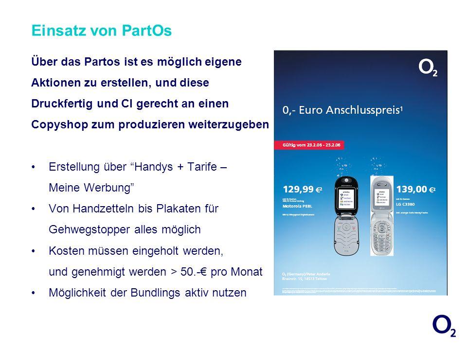 Einsatz von PartOs Über das Partos ist es möglich eigene Aktionen zu erstellen, und diese Druckfertig und CI gerecht an einen Copyshop zum produzieren