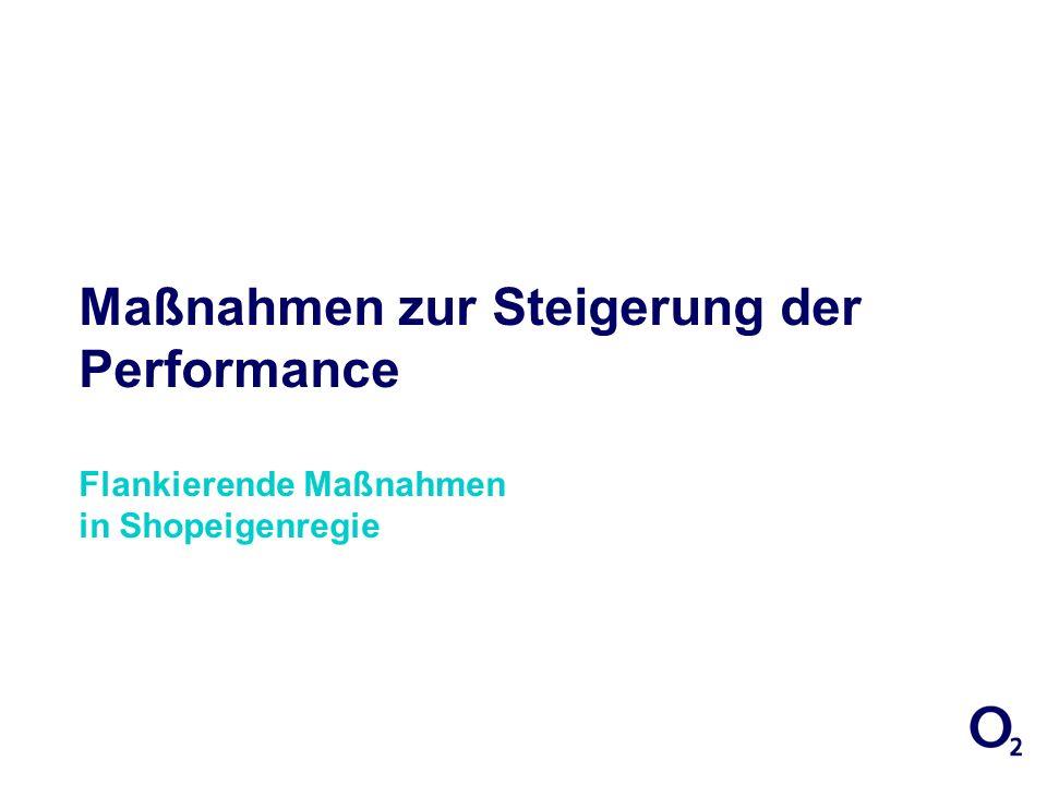 Maßnahmen zur Steigerung der Performance Flankierende Maßnahmen in Shopeigenregie