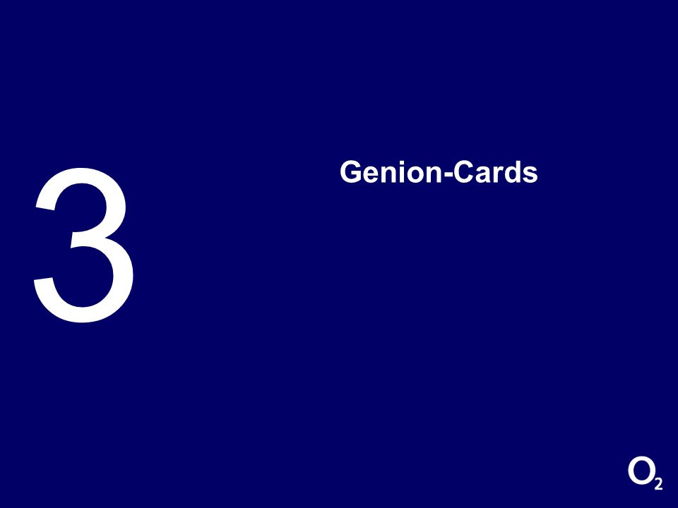 3 Genion-Cards