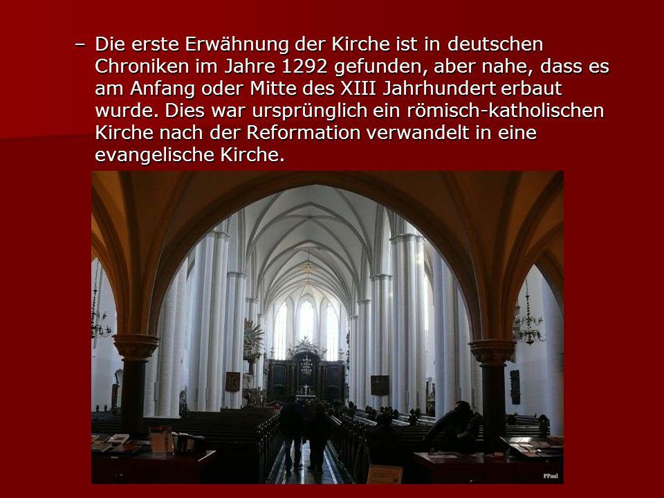 Ironischerweise war es die Kirche der Heiligen Jungfrau Maria hält der Bischof der Evangelischen Kirche von Berlin (denken Sie daran, dass es noch eine große Evangelischen Kirche von Berlin).