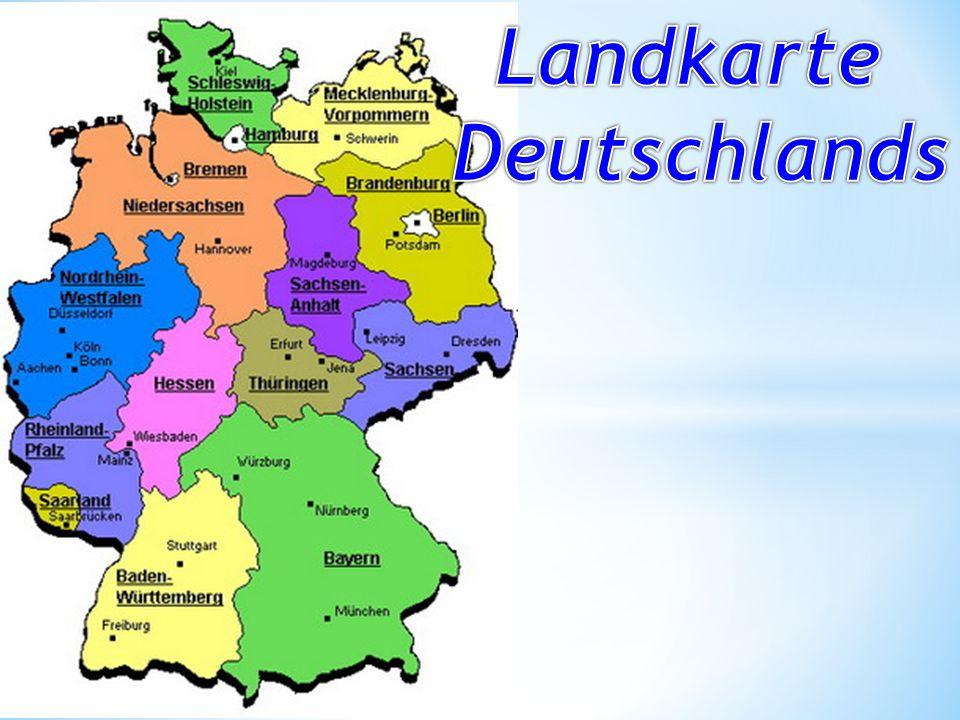 Findet die Städte auf der Karte: Hamburg Bremen Berlin München Mainz