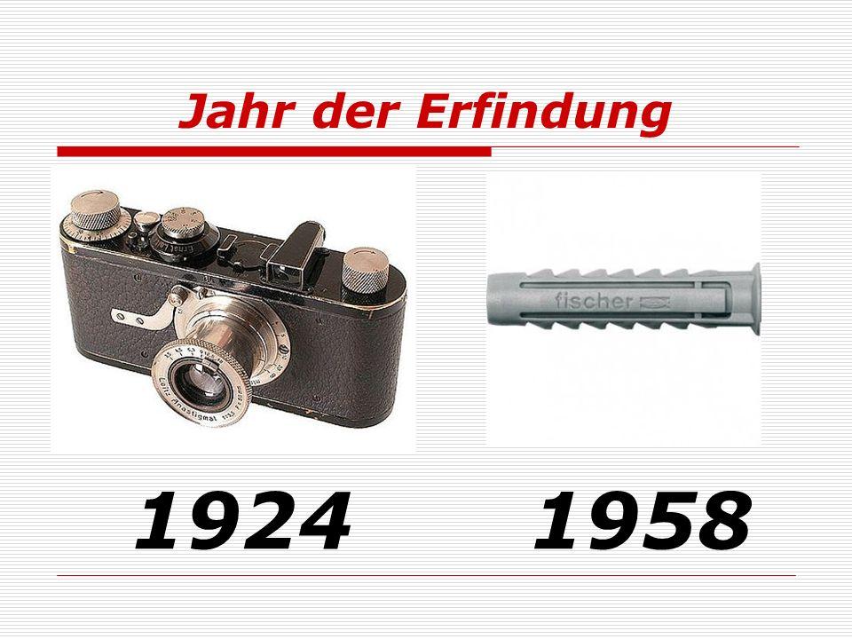 Jahr der Erfindung 19241958