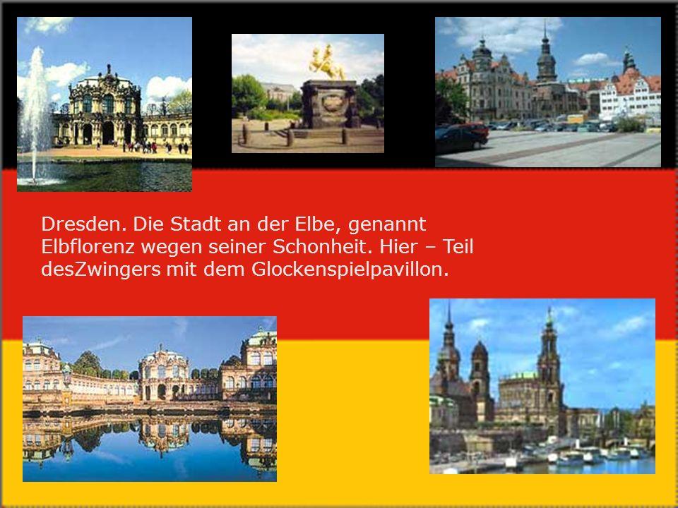 Dresden.Die Stadt an der Elbe, genannt Elbflorenz wegen seiner Schonheit.