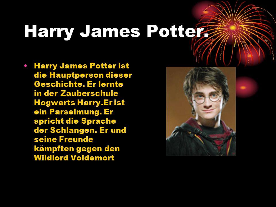Harry James Potter. Harry James Potter ist die Hauptperson dieser Geschichte. Er lernte in der Zauberschule Hogwarts Harry.Er ist ein Parselmung. Er s