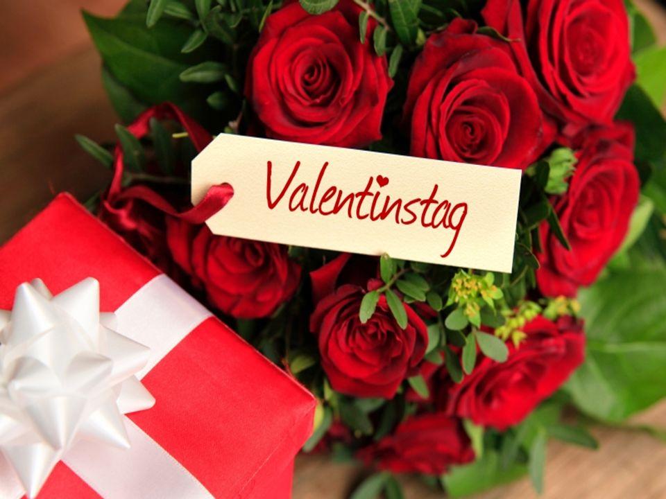 Neue Wörter Die (Valentins)karte – валентинка Der Kuss - поцелуй Amor - Купидон Heiliger Valentin – Святой Валентин bekommen - получать Das Herz - сердце Die Verliebten - влюбленныe schicken - отправлять Das Geschenk - подарок Die Rosen - розы -