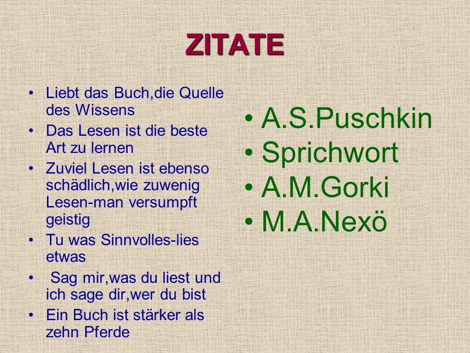 H.Heine F.Schiller J.W.Goethe H.Hesse C.Nöstlinger