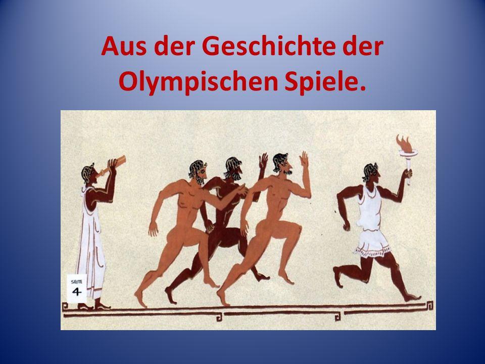 1896 ist das Geburtsjahr der modernen Olympischen Spiele.