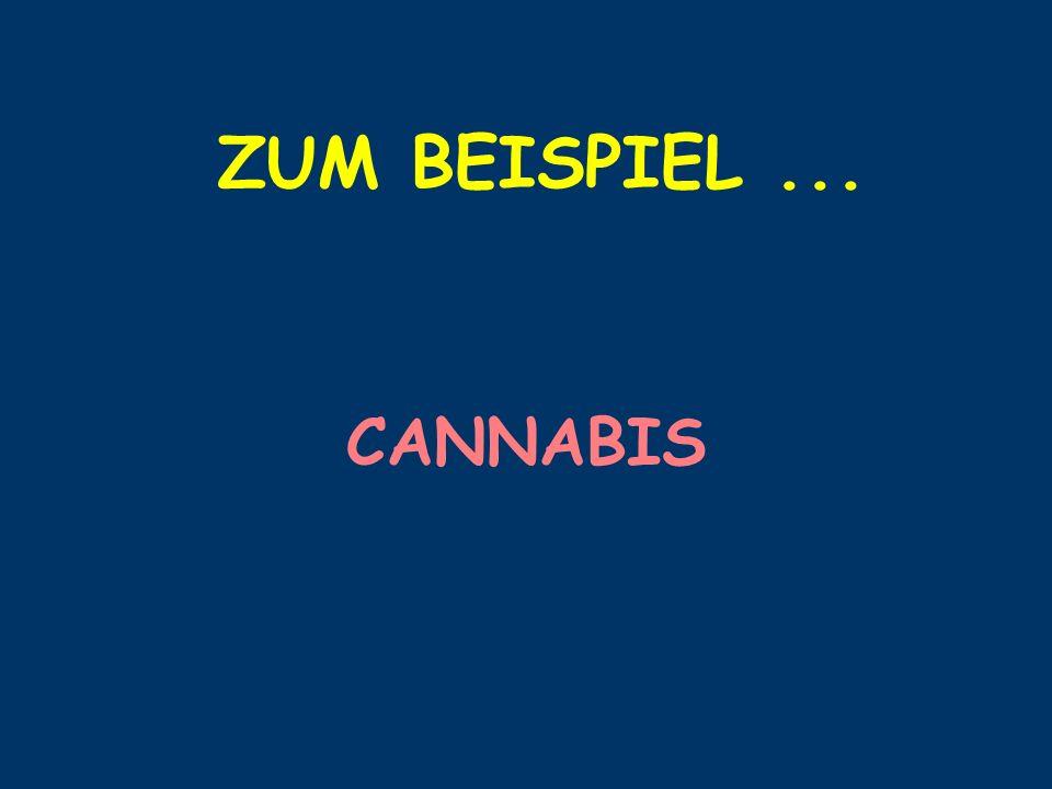 ZUM BEISPIEL... CANNABIS