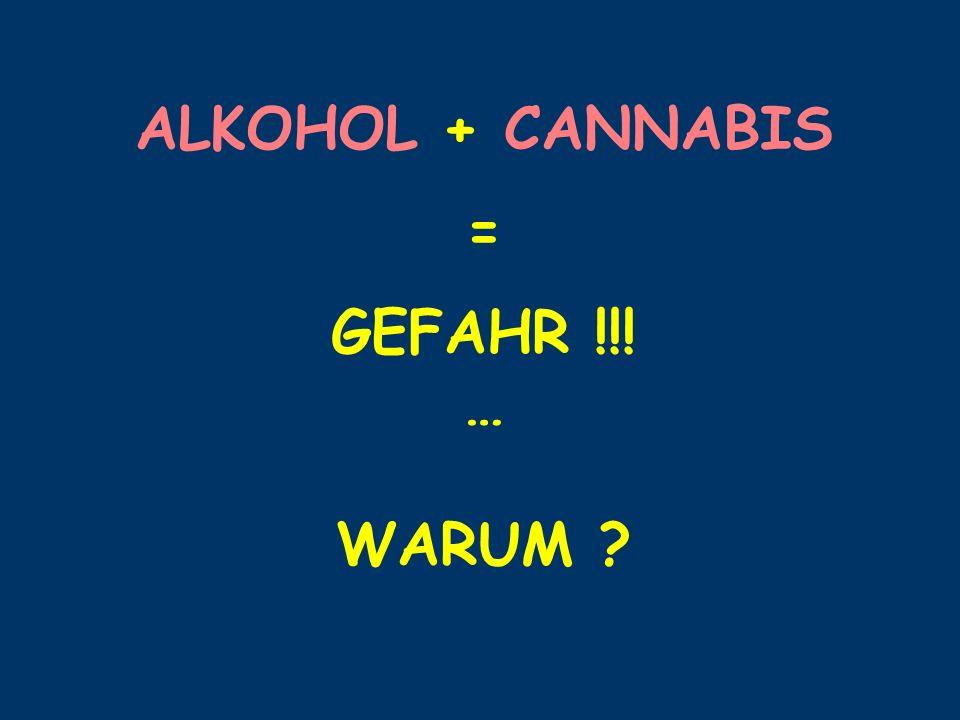 ALKOHOL + CANNABIS = GEFAHR !!! … WARUM ?