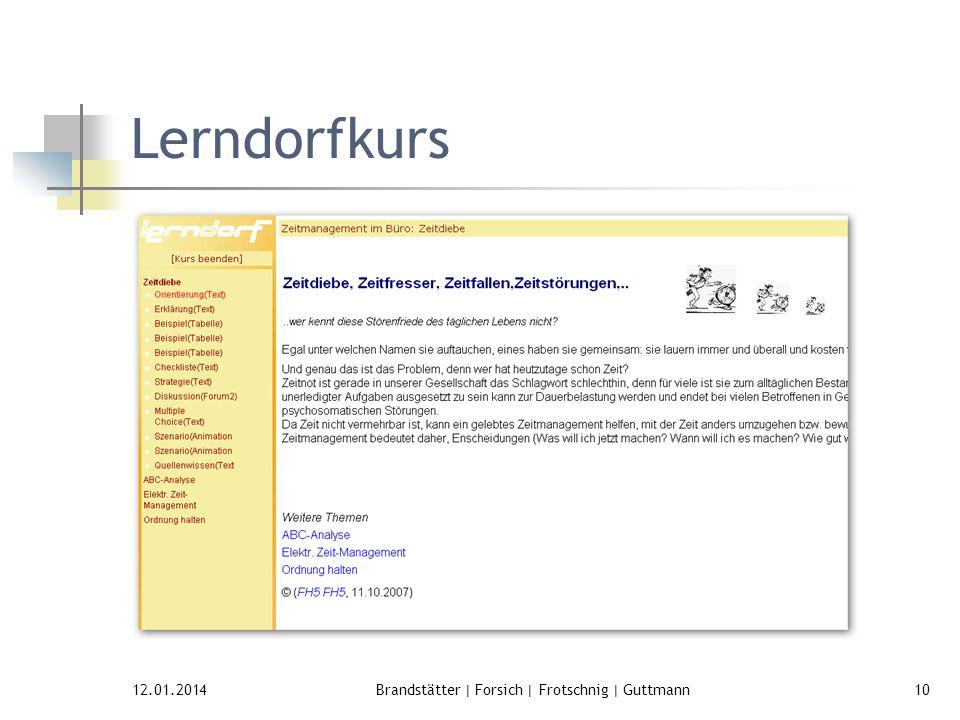 12.01.2014Brandstätter | Forsich | Frotschnig | Guttmann10 Lerndorfkurs