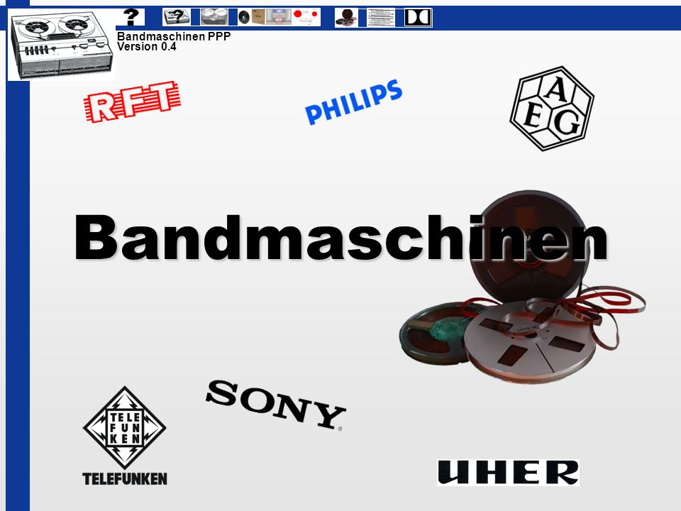 Bandmaschinen Bandmaschinen PPP Version 0.4