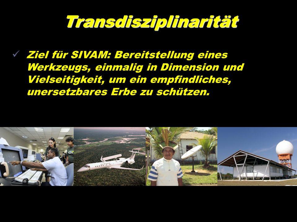 Transdisziplinarität Ziel für SIVAM: Bereitstellung eines Werkzeugs, einmalig in Dimension und Vielseitigkeit, um ein empfindliches, unersetzbares Erb
