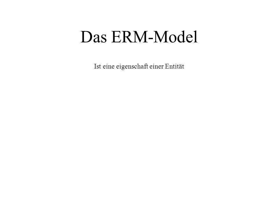 Das ERM-Model Ist eine eigenschaft einer Entität