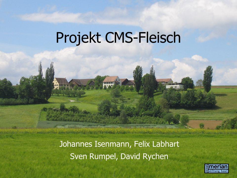 Projekt CMS-Fleisch Johannes Isenmann, Felix Labhart Sven Rumpel, David Rychen
