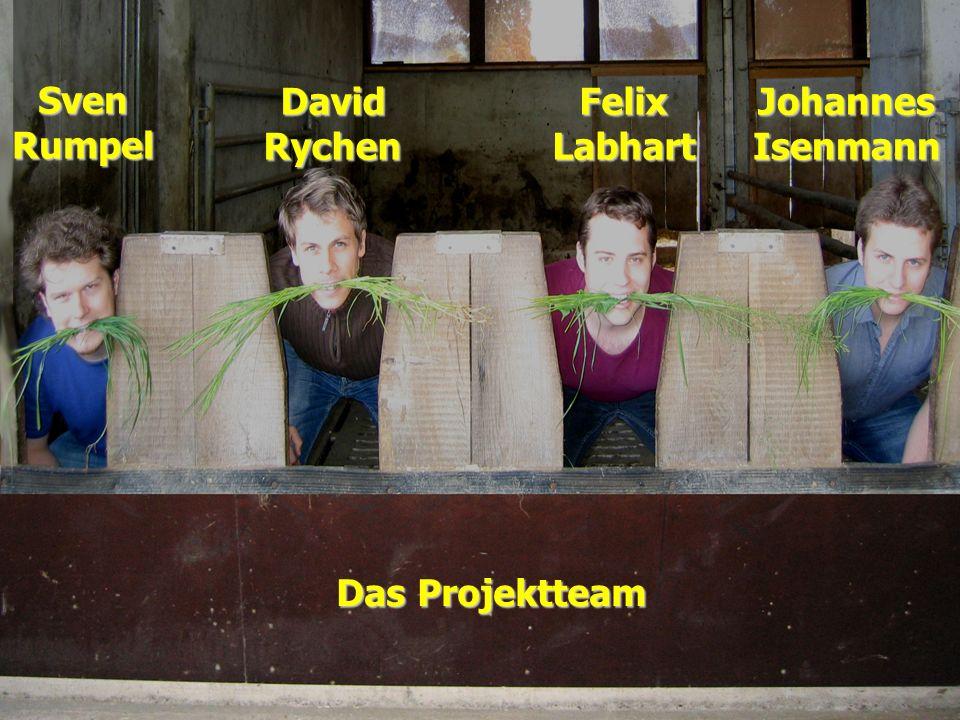 SvenRumpel DavidRychenFelixLabhartJohannesIsenmann Das Projektteam
