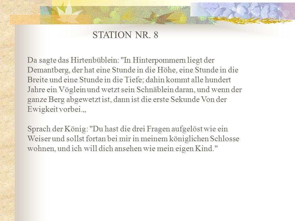 STATION NR. 8 Da sagte das Hirtenbüblein: