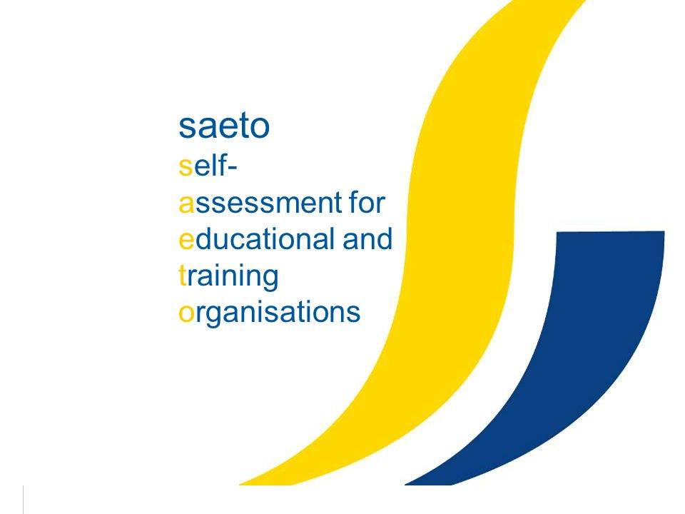 1 saeto self- assessment for educational and training organisations