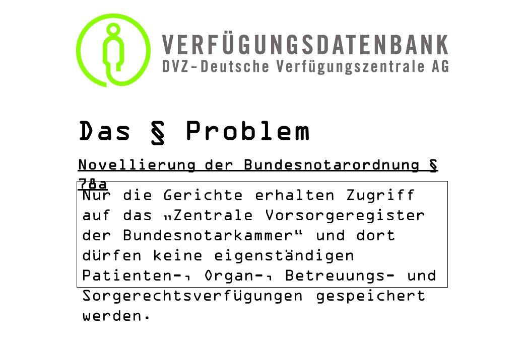 Das § Problem