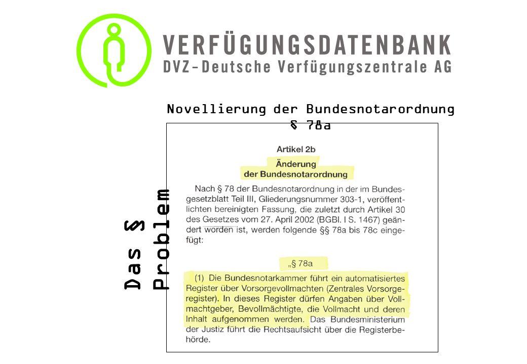 DVZ - Vorsorgeverfügungen damit Sie Ihre immaterielle Lebensvorsorge wirksam regeln können Vorsorgevollmacht Die notarielle Form ist nicht vorgeschrieben.