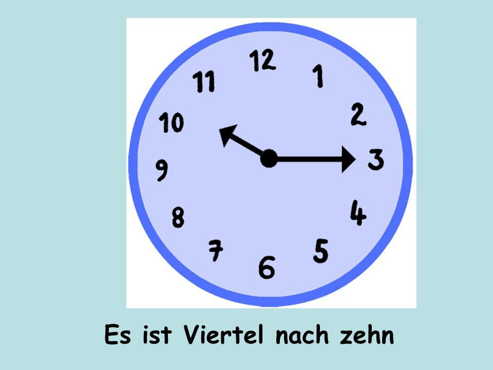 Wie spät ist es? Wieviel Uhr ist es?