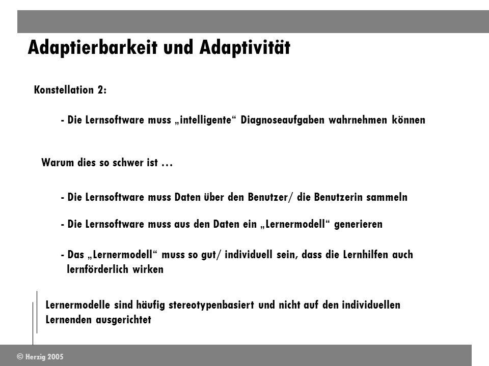 Konstellation 2: - Die Lernsoftware muss intelligente Diagnoseaufgaben wahrnehmen können Warum dies so schwer ist … - Die Lernsoftware muss Daten über