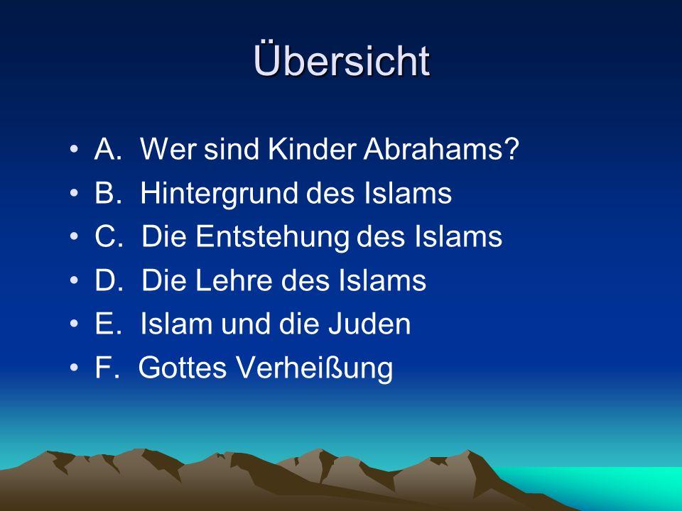 A.Wer sind Kinder Abrahams. Gottes Verheißung über Isaak u.